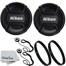 2x Genuine Nikon 52mm Front Lens Cap LC52 For 55-200mm 50mm 18-55mm  Lense + UV