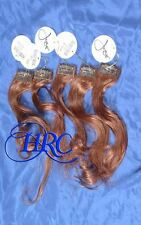 RED JOSE EBER HIGH QUALITY 100% HUMAN HAIR EXTENSIONS 5 PIECE CLIP ON