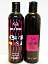 The Body Shop Blac 00004000 K Musk Shower Gel and Body Lotion, 8.4 oz/250 mL, New x 2