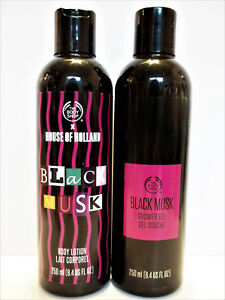 The Body Shop BLACK MUSK Shower Gel and Body Lotion, 8.4 oz/250 mL, NEW x 2