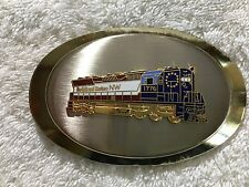NORFOLK & WESTERN RAILWAY, VINTAGE COLLECTIBLE BELT BUCKLE, GOLD, OVAL SHAPED