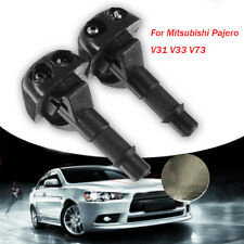 2pc Car Windshield Washer Spray Nozzle Jet For Mitsubishi Pajero V31 V33 V73 New