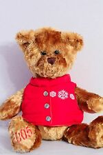 Barnes & Noble 2005 Teddy Bear in Red Vest Plush Toy Doll