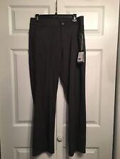 NWT ExOfficio Women's Black Heather Size 8 Aysha Moisture Wicking Pants MSRP $85