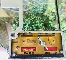TAXI Memorabilia,  vintage Ohmer TAXI fare meter, well-used from who knows when