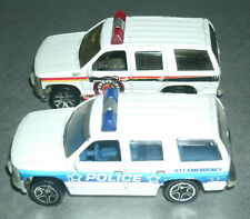 Two 1/64 Scale 1997 Chevy Tahoe Diecast Emergency Vehicles - Matchbox MB325