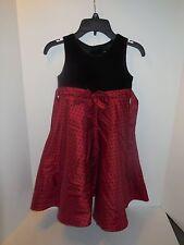 GoodLad Girls Size 6 Red w/Black Velvet & Polka dots Party Dress