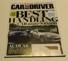 Car and Driver Magazine October 2011- Audi A6, Ford Mustang GT, Nissan 370Z