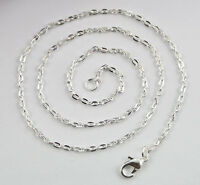 "12PCS of 3x2mm Link metal chain necklaces silver gold bronze 16"" 18"" 20"" 22"""