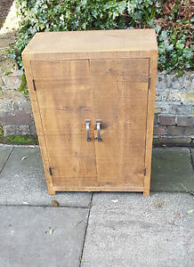 NEW SOLID WOOD RUSTIC CHUNKY PLANK WOODEN FREE-STANDING BATHROOM CUPBOARD