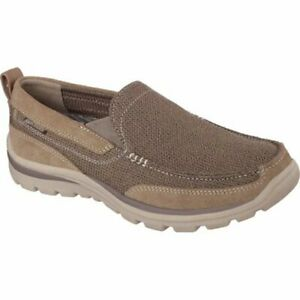 Skechers Relaxed Fit Superior Milford Slip-On Sneaker, Brown, 9.5 Extra Wide Fit