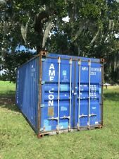 Used 20 Dry Van Steel Storage Container Shipping Cargo Conex Seabox Omaha