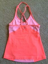 LULULEMON Surya Tank Top Bleached Coral/Pop Orange size 6 EUC Yoga Gym Summer