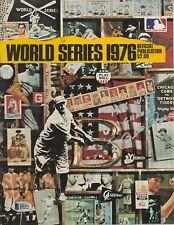 "Pete Rose Signed 1976 World Series Baseball Program ""1976 WS Champs"" Beckett"