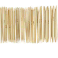 55 Stück Nadelspiel Bambus-Socken-Stricknadeln Nadelspiele Größe 2,0 -5,0 Mm
