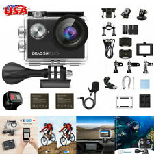 New Dragon Touch Vision 4 Sports Action Camera HD 4K WIFI 16MP 4X ZOOM Camcorder