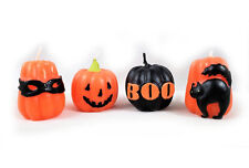 Halloween Candles set of 4 Pumpkin Patch Black Cat BOO by Tag New Jack O Lantern