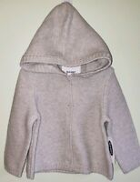 NEW Old Navy Girls 12-18 MONTHS Hooded Cardigan Sweater LIGHT GRAY #38519