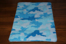 New Blue Camo #1 Fleece Dog Cat Pet Carrier Crate Blanket Bed Pad Free S/H! Bcr