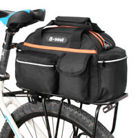 Cycling Bike Bicycle Rear Pannier Seat Bag Rack Trunk Shoulder Bag Large K3Y7