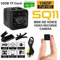 Mini Camera DVR DV Hidden Camcorder 1080P Sports Dash Cam Night Vision & 32GB TF