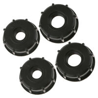 4PCS IBC Water Tote Tank Adapter Hose Cap for 60mm Outlet Plastic 1Inch