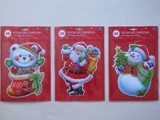 3D Christmas Room Decorations Self Adhesive Pre-cut Stickers (Choice of 3)