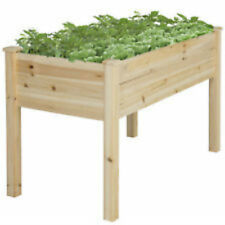 Garden Raised Vegetable Bed Outdoor Planter Easy Kit Wooden Grow Patio Soil New