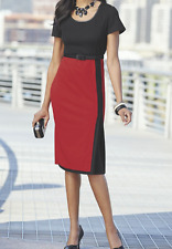 sz 2X Sonya Dress Red/Black by Ashro new