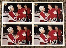 1991-92 Upper Deck Hockey Canada Cup Checklist Card Lot (4)  Hull Lindros