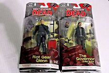 THE WALKING DEAD COMIC BOOK SERIES 2 THE GOVERNOR and Riot Gear Glenn Figure New