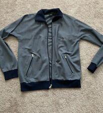 Hugo Boss Mens Small S/M Blue Zip Up Jacket Sweatshirt Light New Nwot