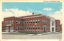 Estherville Iowa~City Hall~Garage Doors~1931 Postcard
