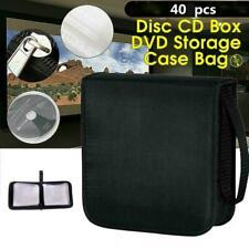 40 CD DVD Disc Carry Case Holder Bag Wallet Storage Book Black Binder New D4M2