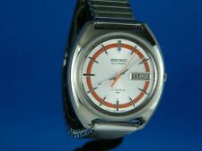 VINTAGE SEIKO 7006-7109 AUTOMATIC 17J STAINLESS MENS WRIST WATCH SERVICED C.1972