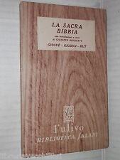 LA SACRA BIBBIA Giosue Giudici Rut Salani ulivo 1951 libro religione saggistica