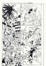 All-New X-Men #15 p.12 - X-23 Wolverine Action vs Demos 2016 art by Mark Bagley