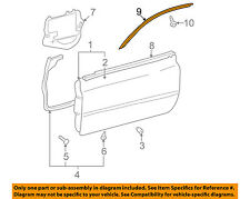TOYOTA OEM 04-08 Solara Door-Drip Molding Right 7555106030