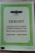 Debussy danses pour harpe et orchestre taschenpartitur