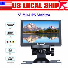 EYOYO 5inch Mini IPS Monitor VGA/HD/BNC/AV/Ypbpr Input display +VGA Cable +base