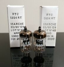 Matched Pair (2) NOS/NIB Mullard 5654/6AK5 BLACK HOLE plate tubes - Little Dot