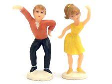 1979 Vintage Wilton Dancing Teen Cake Tops Toppers Decorations 60s Dancers K260