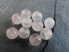 1 Pair x 8mm Half Drilled Pink Rose Quartz Round Beads (2 Beads) Halfdrilled