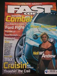 Fast Car Magazine November 2001 (397)(Rare) Nell McAndrew Pug 206 GT WRC Escort