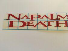 Napalm Death Vinyl Decal Sticker