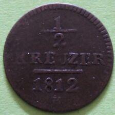 SUISSE 1/2 KREUZER 1812 CANT. DE ST. GALLEN