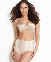 New Bali Light Control Lace Support Brief Soft Taupe Women's XL