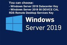 Windows Server 2019 datacenter /OR/ remote desktop services [rds] 50 Device Cals