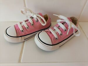 Girl's Pink Converse All Star Canvas Trainers Size UK 6 (Infants)