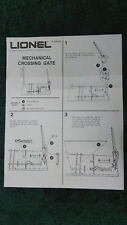LIONEL 2309 MECHANICAL CROSSING GATE INSTRUCTIONS PHOTOCOPY